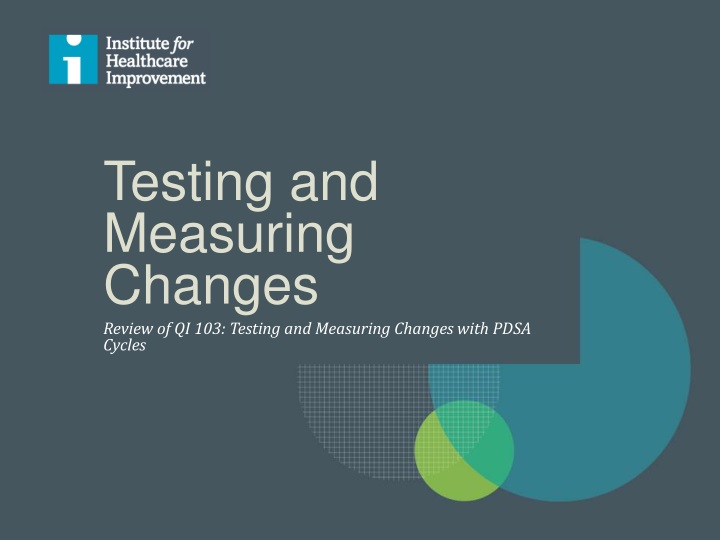 testing and measuring changes n.