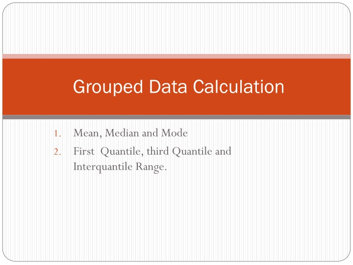 grouped data calculation n.