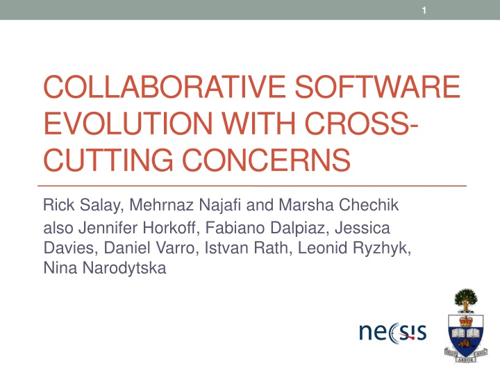 collaborative software evolution with cross cutting concerns n.
