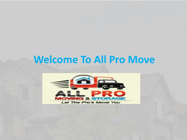 welcome to all pro move n.