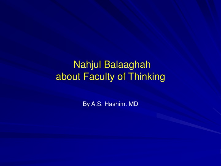 nahjul balaaghah about faculty of thinking n.