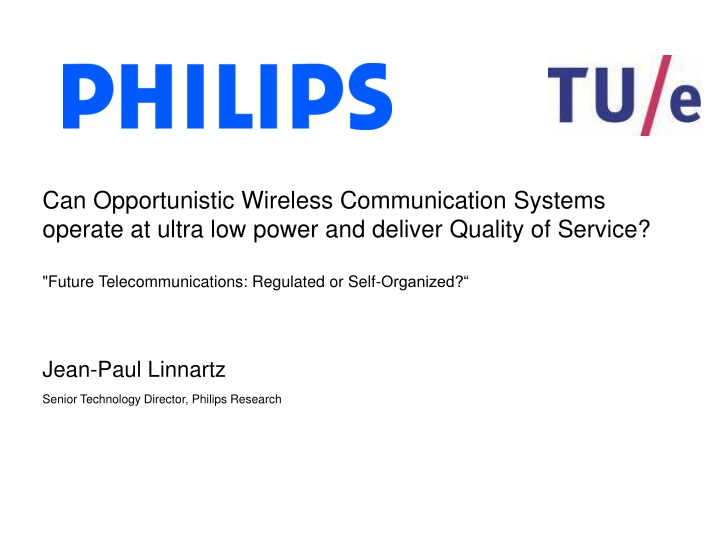 can opportunistic wireless communication systems n.