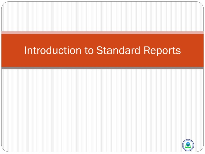 introduction to standard reports n.