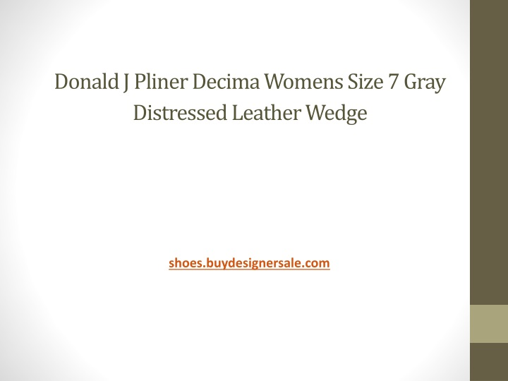 donald j pliner decima womens size 7 gray distressed leather wedge n.