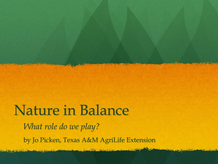nature in balance n.