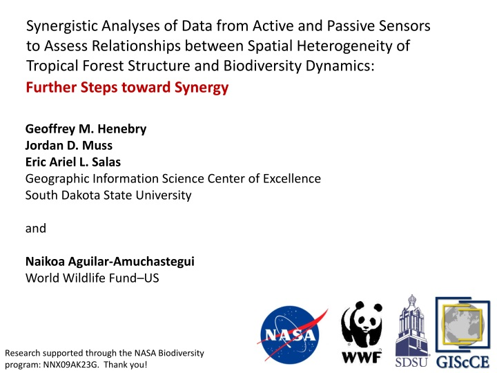 synergistic analyses of data from active n.