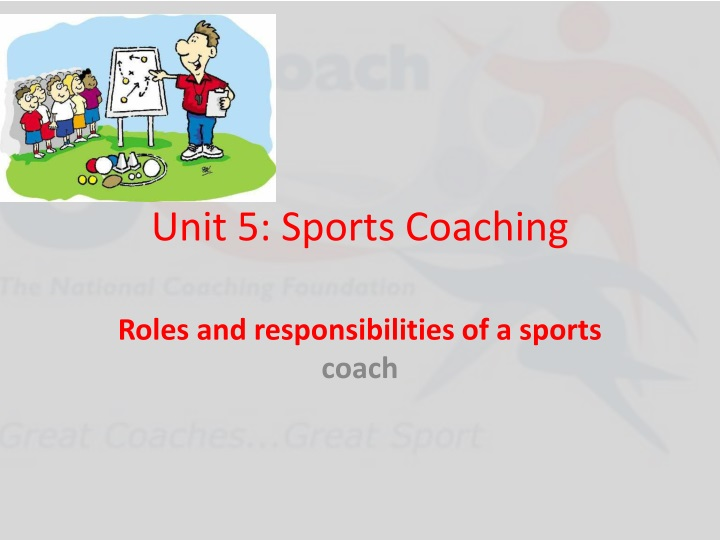 unit 5 sports coaching n.