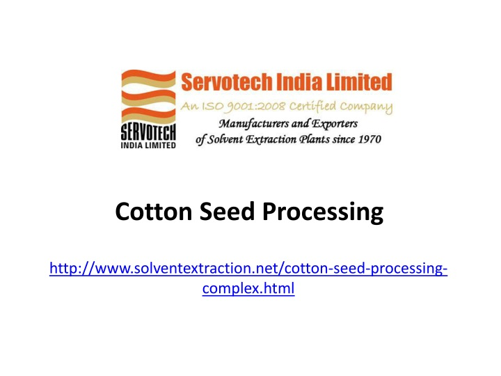 cotton seed processing n.
