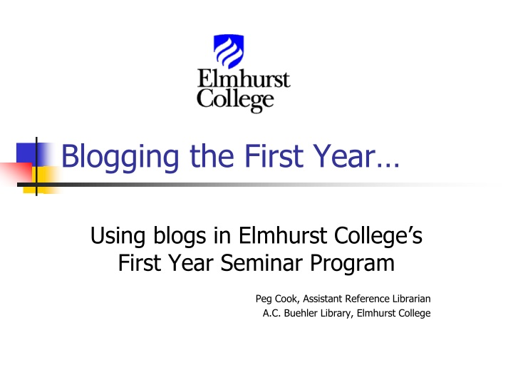 blogging the first year n.