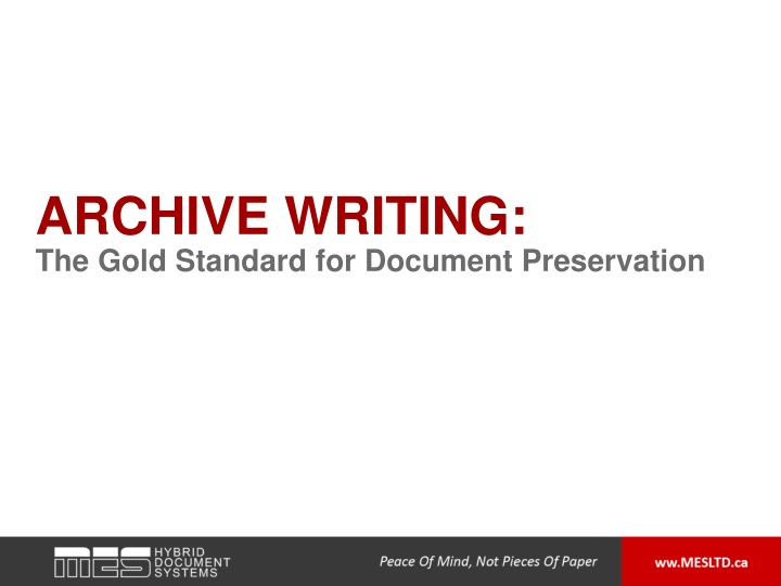 archive writing n.
