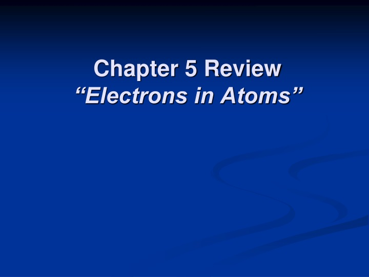 chapter 5 review electrons in atoms n.