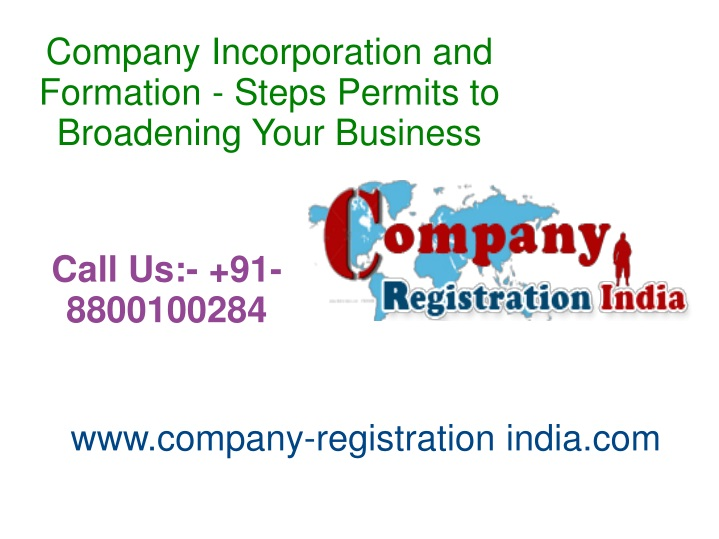 company incorporation and formation steps permits n.