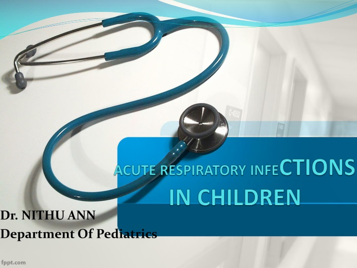 acute respiratory infe ctions in children n.