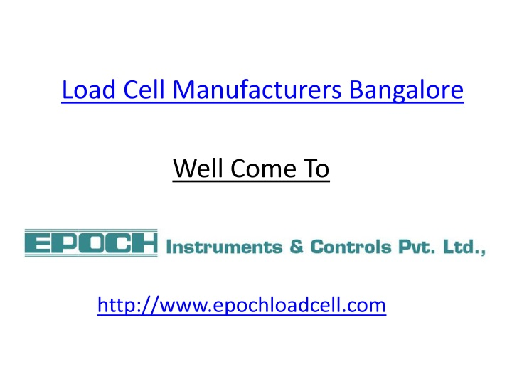 load cell manufacturers bangalore n.