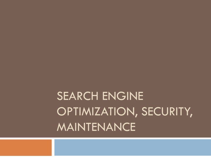 search engine optimization security maintenance n.