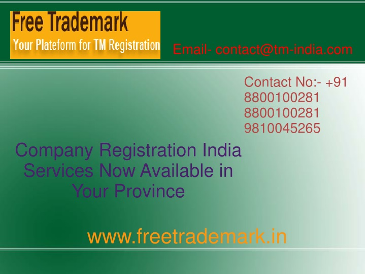 email contact@tm india com n.