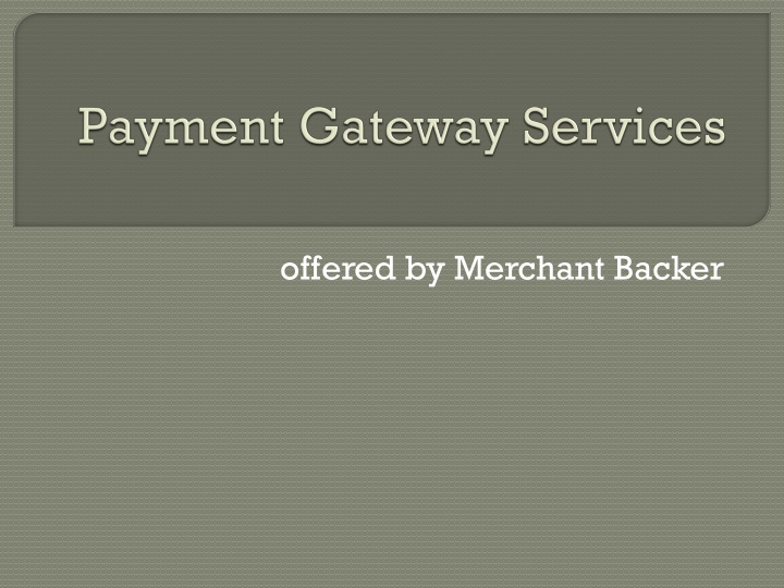 payment gateway services n.