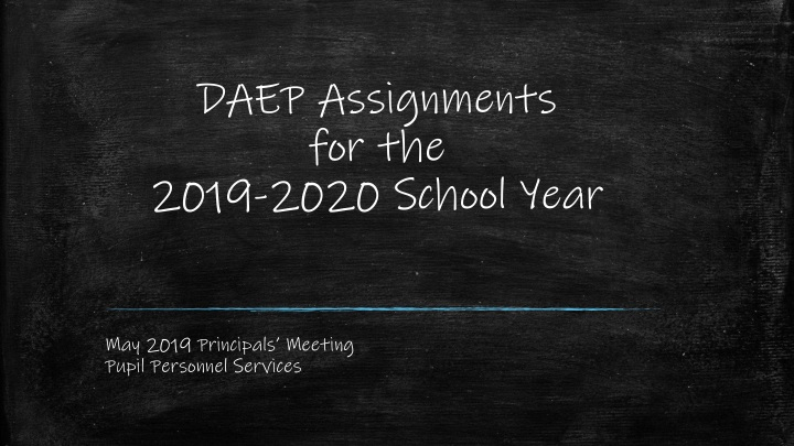 daep assignments for the 2019 2020 school year n.