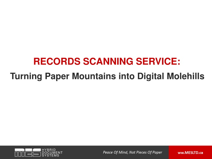 records scanning service n.