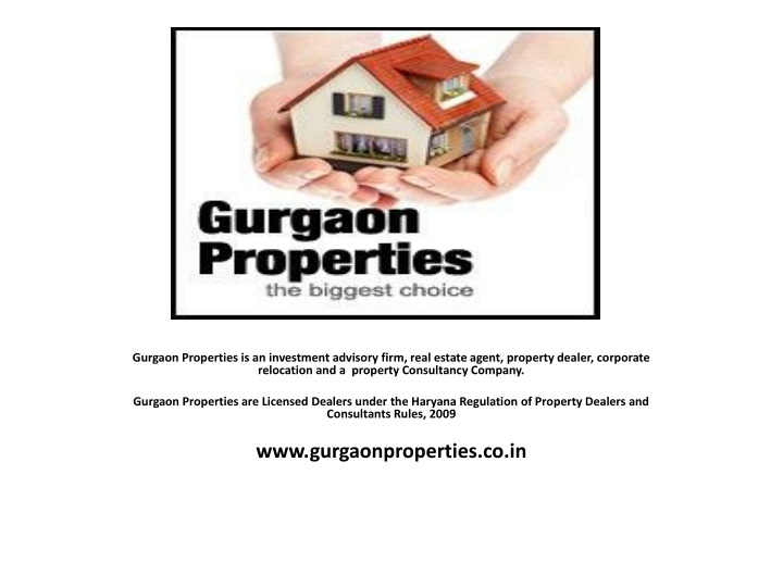 gurgaon properties is an investment advisory firm n.