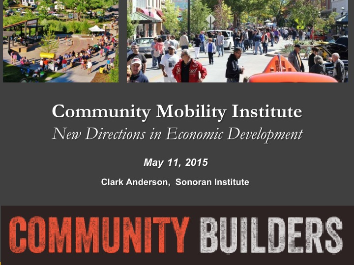 community mobility institute new directions n.
