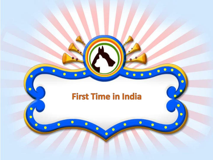 first time in india n.