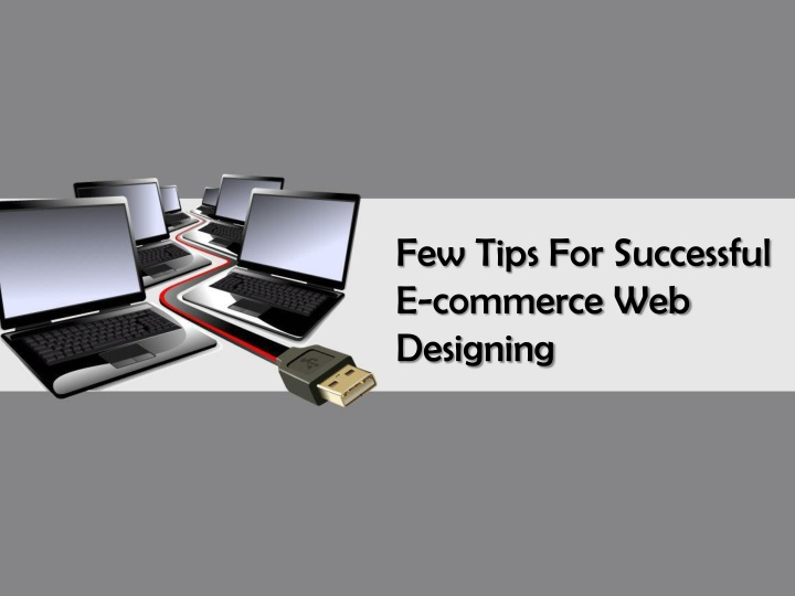 few tips for successful e commerce web designing n.