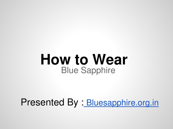 how to wear n.