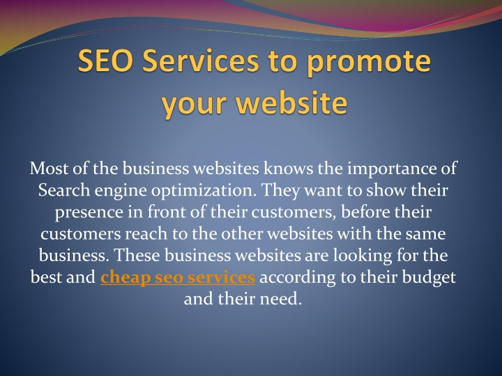 seo services to promote your website n.
