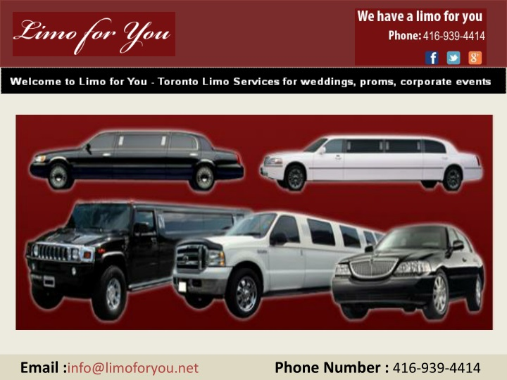 email info@limoforyou net phone number n.