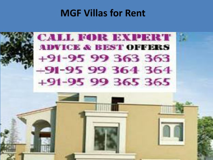mgf villas for rent n.