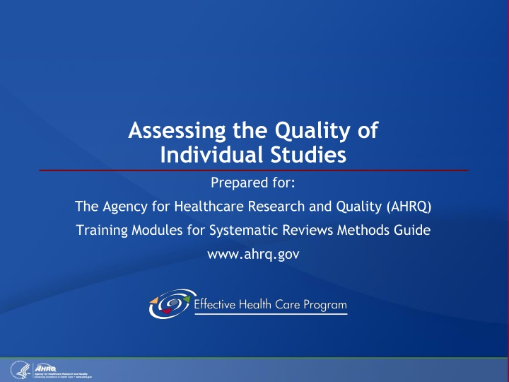 assessing the quality of individual studies n.