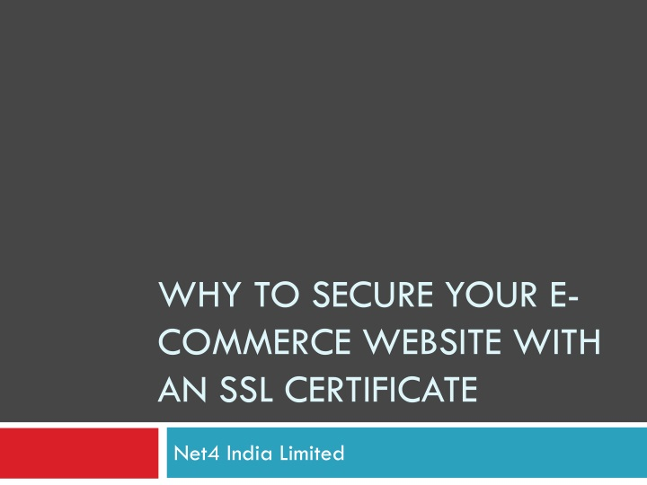 why to secure your e commerce website with an ssl certificate n.