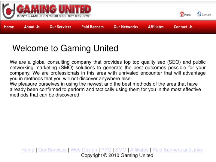 welcome to gaming united n.