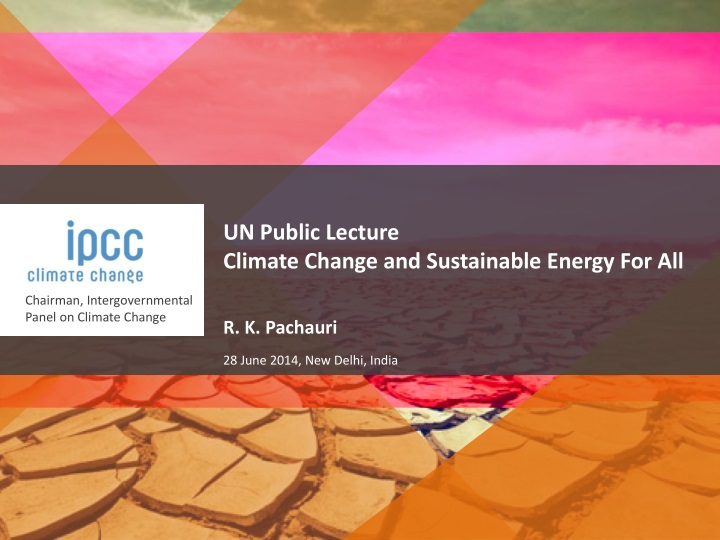 un public lecture climate change and sustainable n.
