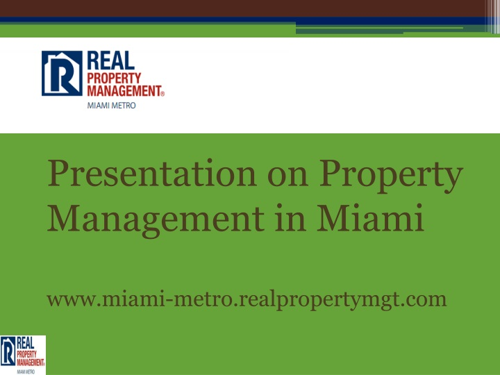 presentation on property management in miami n.