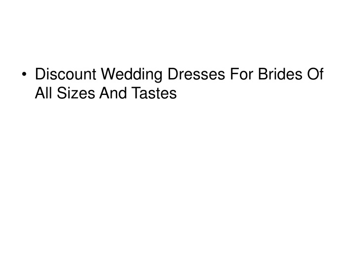 discount wedding dresses for brides of all sizes n.