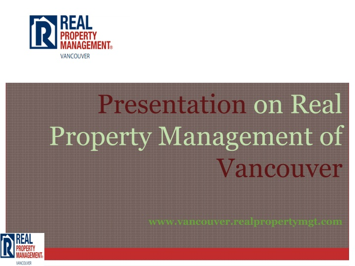 presentation on real property management n.