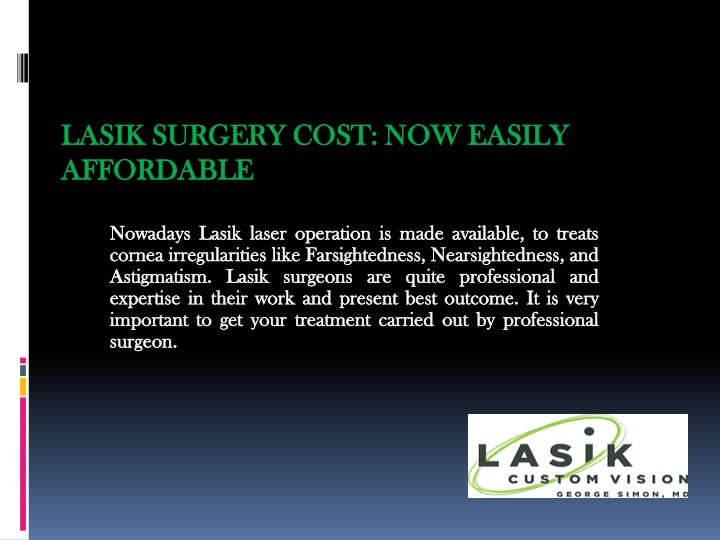 lasik surgery cost now easily affordable n.