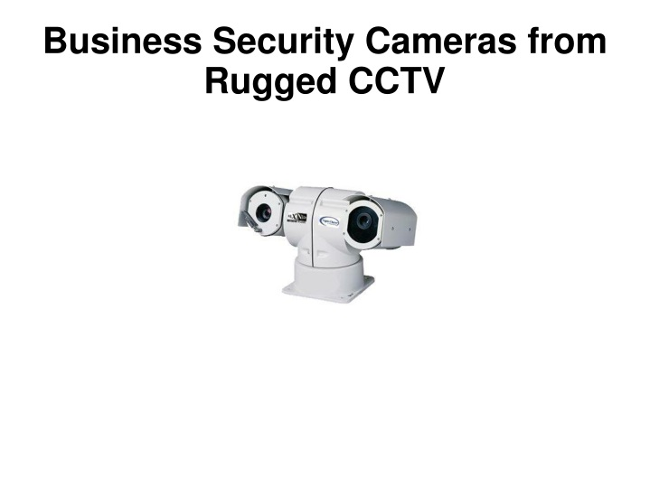 business security cameras from rugged cctv n.