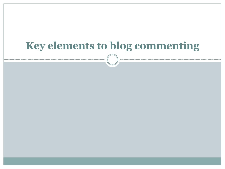 key elements to blog commenting n.