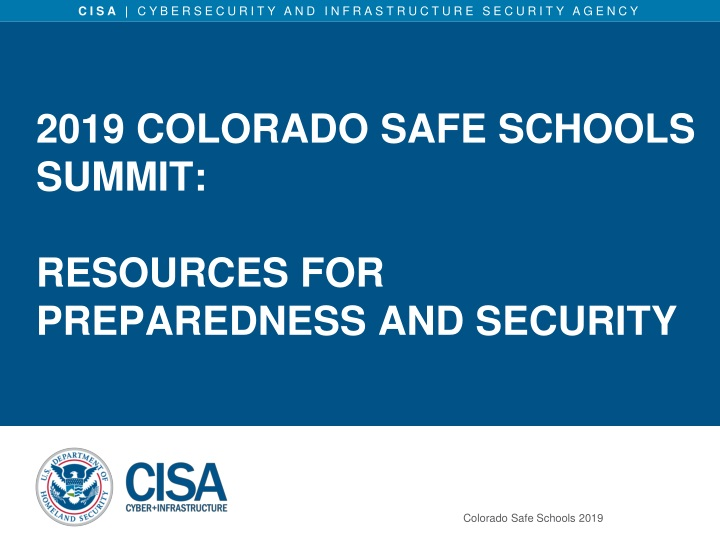 2019 colorado safe schools summit resources for preparedness and security n.