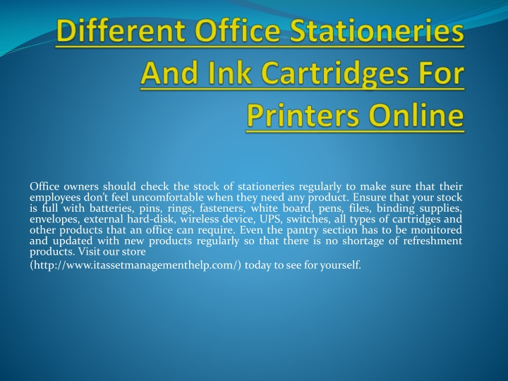 different office stationeries and ink cartridges for printers online n.