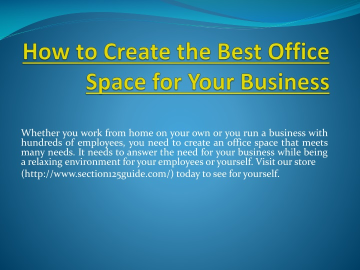 how to create the best office space for your business n.