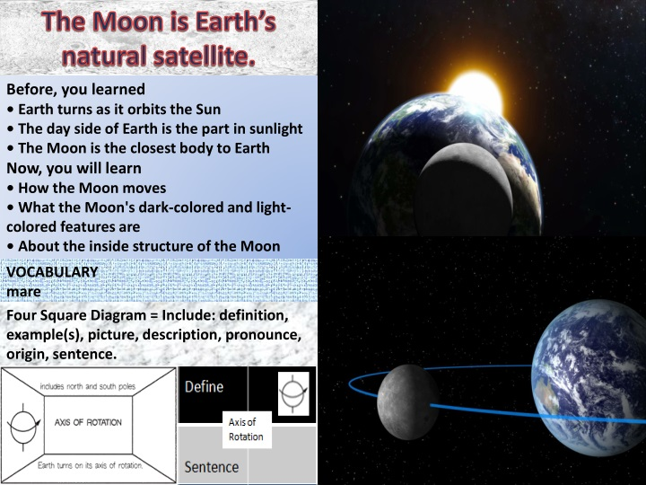 the moon is earth s natural satellite n.