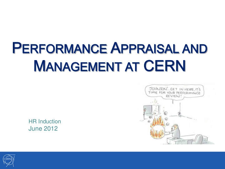 performance appraisal and management at cern n.