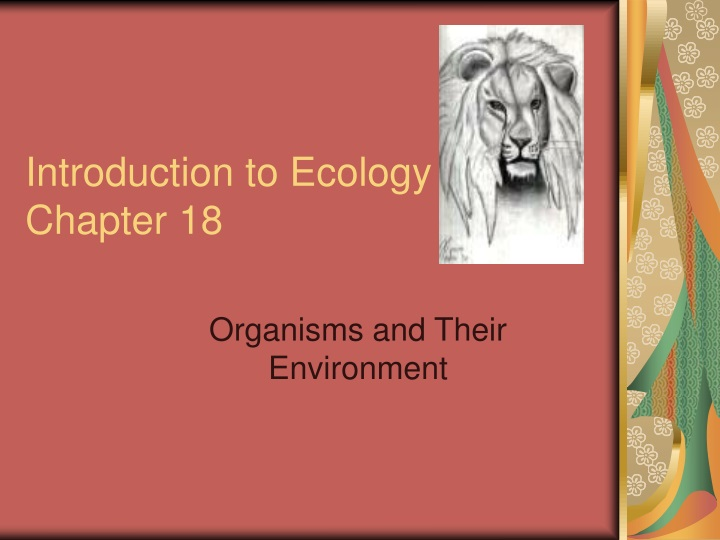 introduction to ecology chapter 18 n.