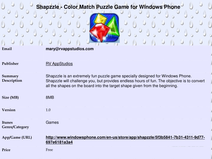 shapzzle color match puzzle game for windows phone n.