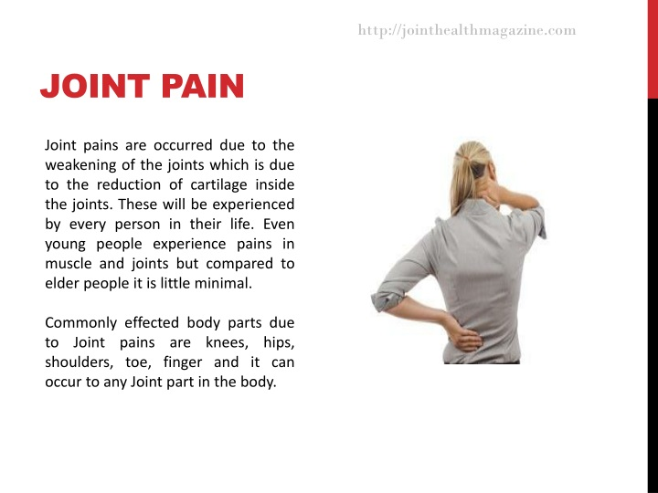 joint pain n.