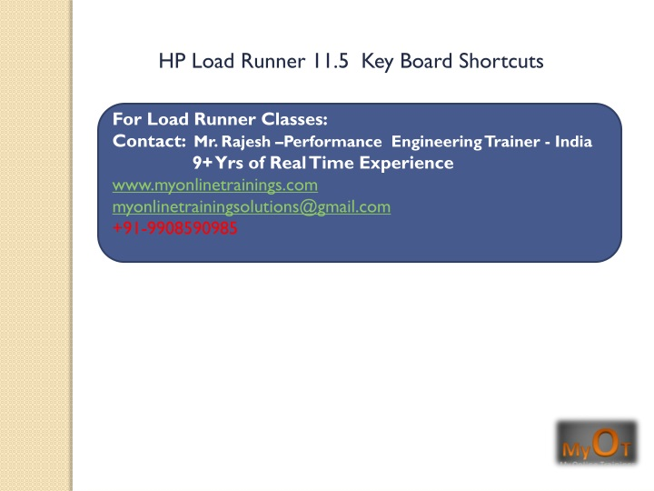 hp load runner 11 5 key board shortcuts n.
